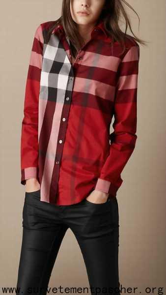 chemise imitation burberry femme pas cher,Chemise femme 脿 carreaux ... 2e9203bc76d